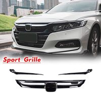Glossy Black Sport Style Front Grille Bumper Hood Grille Cover With Chrome Garnish For Honda For Accord 2018 2019