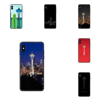 Customized Pictures Black Phone Case Seattle Space Needle For Galaxy S5 S6 S7 S8 S9 S10 S10e S20 edge Lite Plus Ultra image