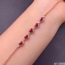 KJJEAXCMY fine jewelry 925 sterling silver inlaid natural ruby bracelet delicate female luxury bracelet support testing kjjeaxcmy fine jewelry 925 sterling silver inlaid natural ruby female bracelet beautiful support detection