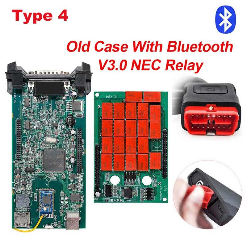 CDP TCS CDP Pro OBD2 Bluetooth R3 keygen,00 keygen для автомобилей/грузовиков OBD2 диагностический инструмент obd2 считыватель кодеров как MVD - Цвет: type4 Old case BT