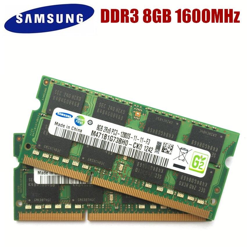 Samsung laptop 4g, 8g 4g 2g pc3 12800s ddr3 8g 4gb 2gb1600mhz memória computador, pc3 12800s 1600 mhz módulo sodimm ram