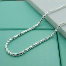 Модное ожерелье из серебра 925 пробы в виде змеи для мужчин