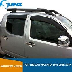 Finestrini laterali Deflettori Per NISSAN NAVARA D40 porta visiera Per NISSAN NAVARA 2006 2007 2008 2009 2010 2011 2012 2013 2014 SUNZ