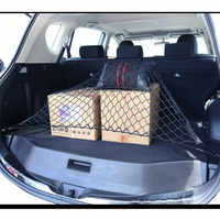 Mallas para maletero de coche 70x70 cm elásticas de Nylon fuerte organizador de almacenamiento de equipaje malla con ganchos