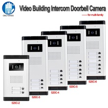 700TVL Waterproof Intercom System Video Door Phone Outdoor Camera IR Light Vision With Multi Call Buttons for Apartment /Homes