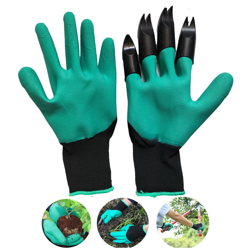 Hot Garden Genie Gloves For Digging/&Planting with 4 ABS Plastic Claws Gardening