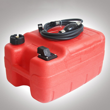 12L24L Boat Yacht Engine Marine Outboard Fuel Tank Oil Box Thicken Red Portable Anti-static Corrosion-resistant