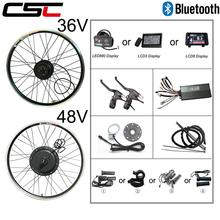 E велосипед Conversion Kit Bluetooth 36 V 48 V 250 W 500 W 1000 W 1500 W 20 24 26 28 29 дюймов электровелосипед Электрический велосипед спереди задний мотор колеса