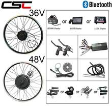 Electric Bicycle Conversion Kit Bluetooth 36V 48V 250W 350W 500W 1000W 1500W 20-29inch 700C bike EBike Front Rear Motor Wheel(China)