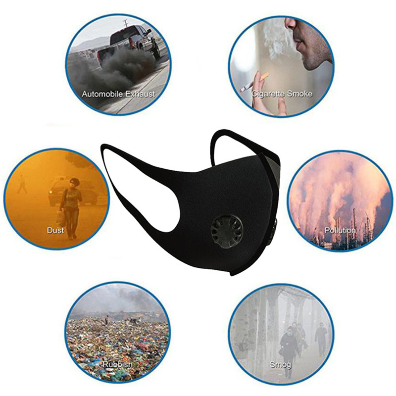 Anti Air Dust And Smoke Pollution Mask With Adjustable Straps Washable Respirator And Repeatedly Used Mask
