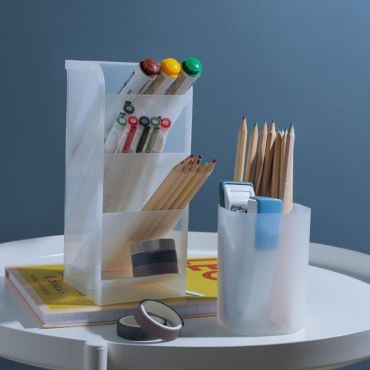 Large Capacity Desk Pen Holder   Storage Box Desktop Organizer Stand Case  6