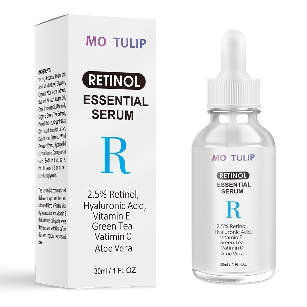 MO TULIP Retinol 2.5% Vitamin C / A Facial Anti Wrinkle Serum Remove Dark Spots Collagen Serum Anti Aging Essential Facial Serum