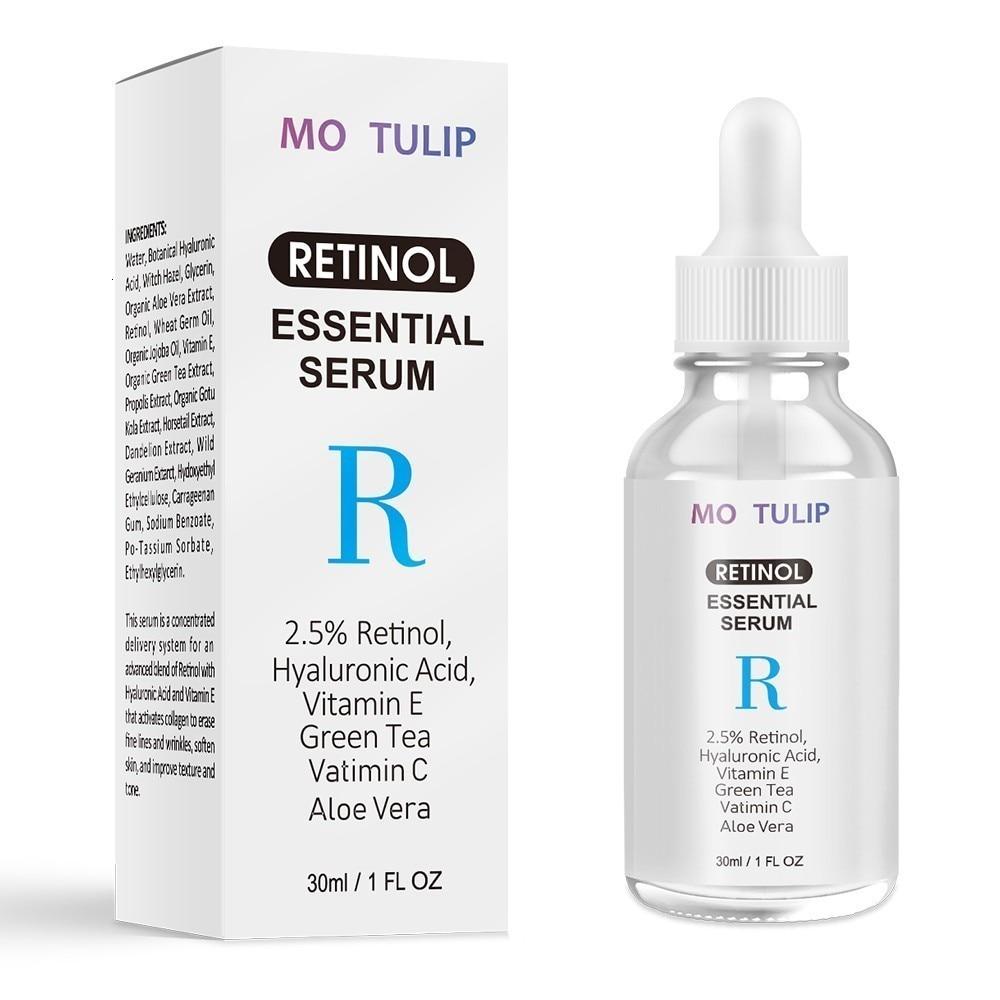 MO TULIP Retinol 2.5% Vitamin C / A Facial Anti Wrinkle Serum Remove Dark Spots Collagen Serum Anti Aging Essential Facial Serum