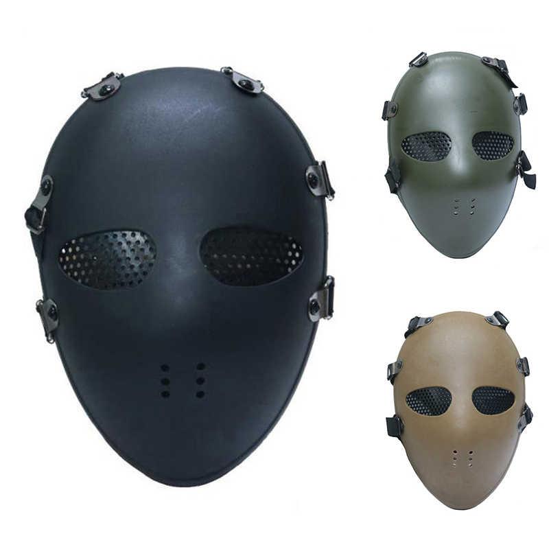 Airsoft Paintball Bb Gun Full Face Mask Bescherm Klassieke Stijl Tactische Hoofd Maskers Voor Cs Wargame Dummy Cosplay Bescherming