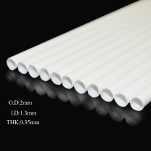 100pcs 2mm ABS round plastic tube