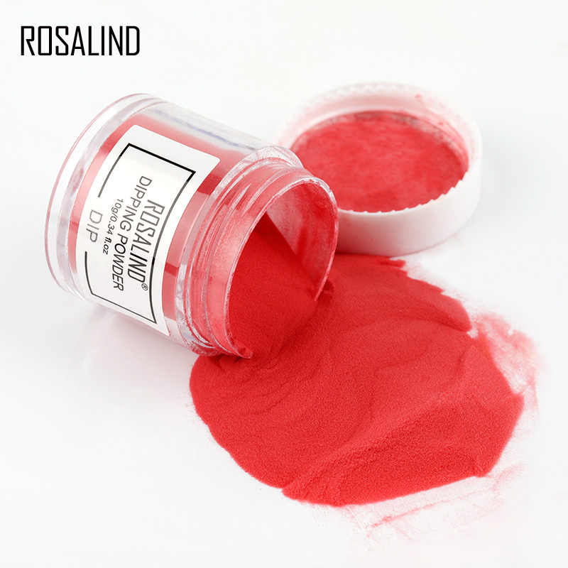 ROSALIND polvo de inmersión Glitter Gel uñas pigmento de cromo seco Natural arte de uñas polvo holográfico juego de polvo para manicura esmalte de Gel