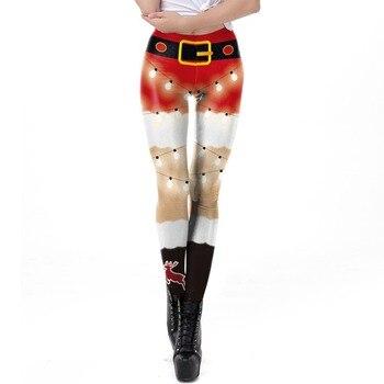 New Arrival Girl Women Halloween Holiday Humor Before Christmas Funny 3D Prints Elastic Fitness Leggings Pants