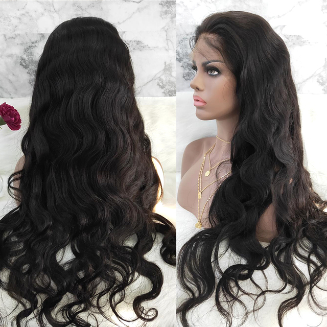 Pre-plucked Hair Body Wave 360 Lace Front Human Hair Wigs 4