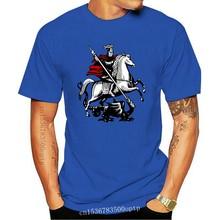 New Arrival Saint George Kills Dragon Heraldry Tee Shirt O Neck Short Sleeve Mens T Shirt Unique Urban Hombre Famous Top Tee