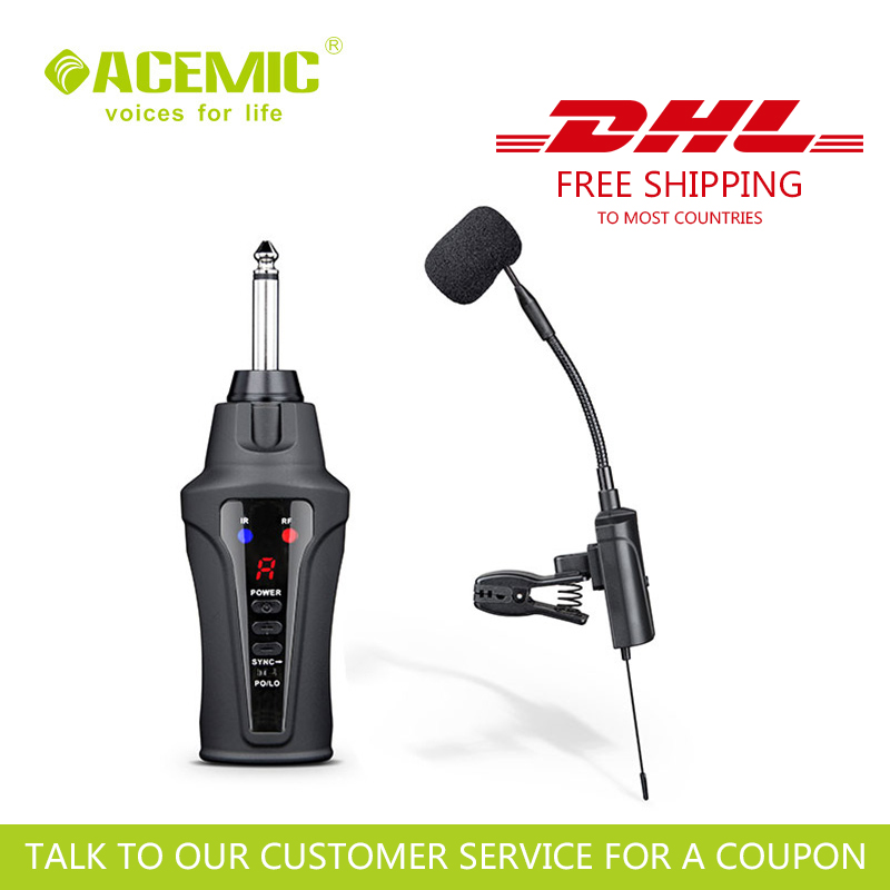 ACEMIC ST-5 Outdoor Portable Wireless Saxophone Microphone FREE & FAST DHL SHIPPING To Most Countries