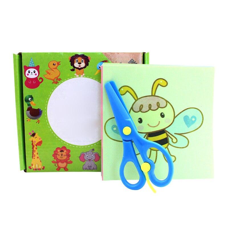 Kids Cartoon Paper Folding Cutting Toys Scissor Skills Educational Toy
