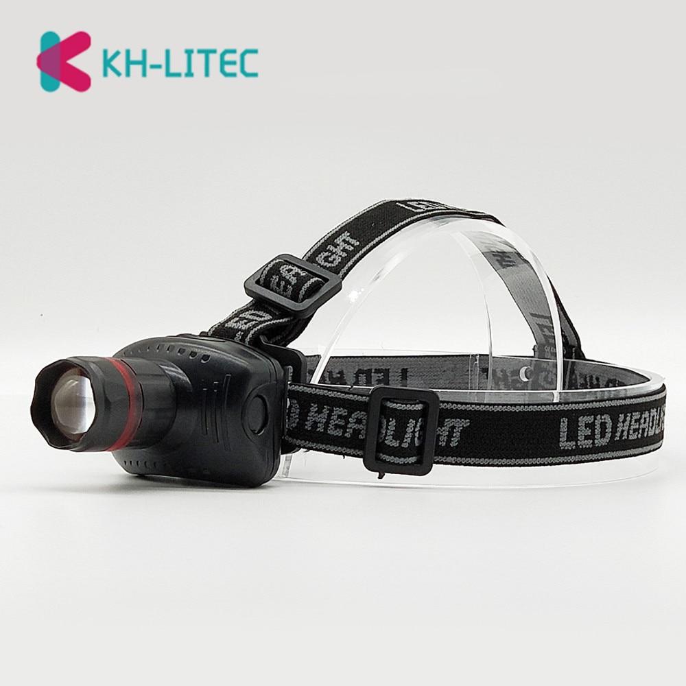 KHLITEC 3 Modes Mini Bike Headlamp Head Light Good Quality Headlight Head Lamp LED Headlamp Led Torch Flashlights AAA Wholesale