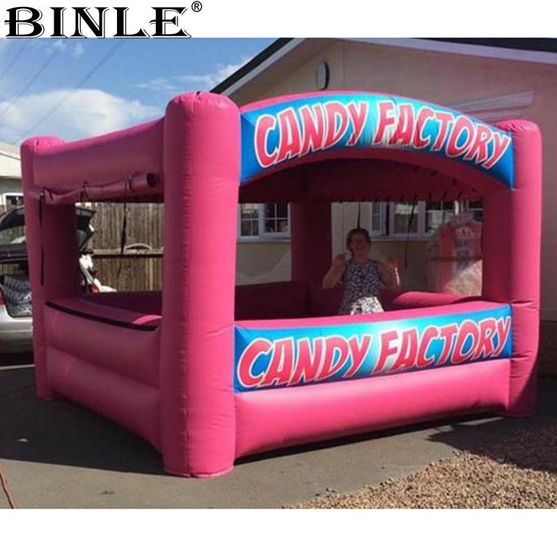 Advertising portable cabin inflatable candy floss,candy booth tent,pop up ice cream sweet stall stations for outdoor sales