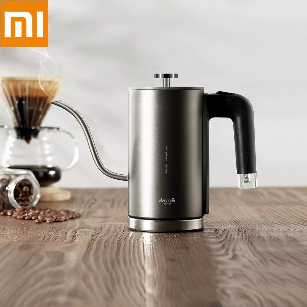 Xiaomi Mijia Deerma Electric Coffee Hand Pot DEM SC001 8mm Gooseneck Spout Strix Temperature Control System Elegant TeaHand Pot|Water Bottle & Cup Accessories| |  - title=