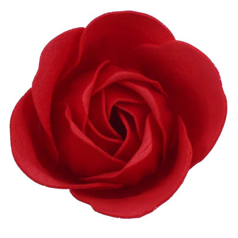 6 pces vermelho scented banho sabão pétala de rosa na caixa do coração