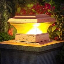 Столб-светильник на солнечной батарее для забора, водонепроницаемый уличный садовый ландшафтный светильник для двора, лампа с теплым свето...