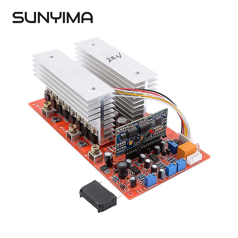 SUNYIMA 1PC DC 24V 36V 48V 60V to AC 1500W 2200W <font><b>3000W</b></font> 3500W Pure Sine Wave <font><b>Inverter</b></font> Frequency High Power Finsh <font><b>Board</b></font> Test image