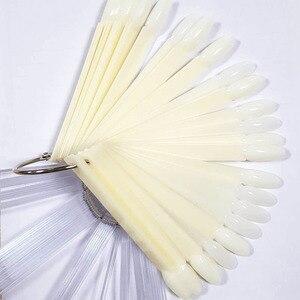 Накладные ногти 50 шт. накладные ногти натуральный прозрачный овальный цвет ногтей роспись ногтей Кии советы практический дисплей toos маникюрный набор