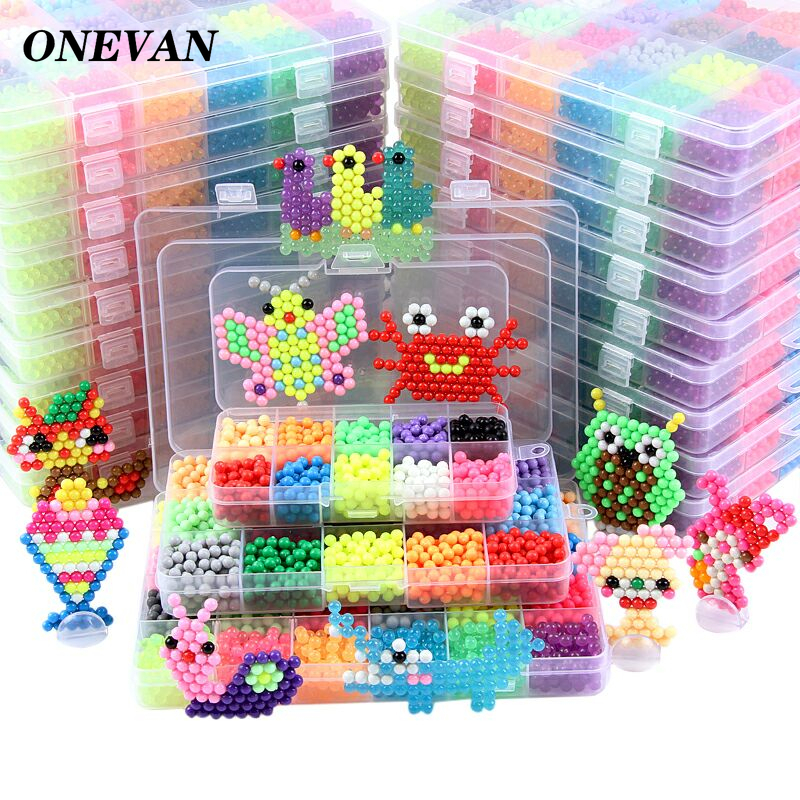 11000pcs Colorful Magic Puzzle Beads DIY Magic Beads Animal Molds Hand Making 3D Puzzle Kids Educational Beads Toys For Children