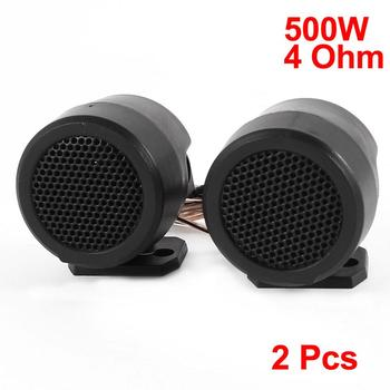 UXCELL 2 Pcs 500W 4 Ohm Adjustable Bracket 1.6 Diameter Dome Tweeters Speakers For Car image