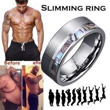 Anel de aço inoxidável perda de peso gordura queima anel emagrecimento fino massageador anti-celulite jóias para homem e mulher acessórios