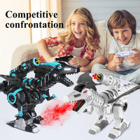 Rc Toy Dinosaur Remote Control Animal Robot With Mist,Spray Electric Dinosaur Toys Walking Controlled Toys For Boys Gift