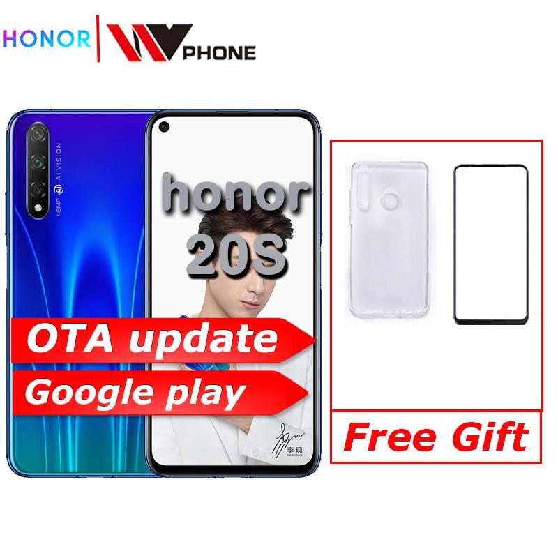 Honour 20 s honour 20 s téléphone intelligent Kirin 810 Octa Core 6.26 pouces plein écran 48MP trois caméras 3750mAh GPU Turbo téléphone Mobile