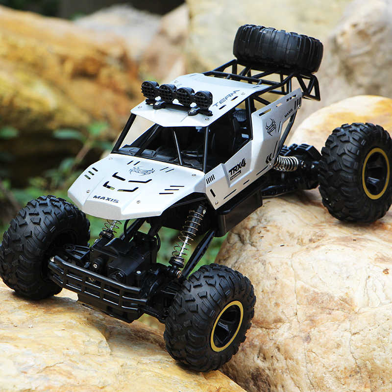 Xycq rc カー 4WD 2.4 2.4ghz 登山車 4 × 4 ダブルモータービッグフット車リモート制御モデル- 道路車両おもちゃ