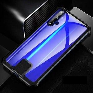 Image 4 - Coque pour Huawei Honor 20 Pro Nova 5T 5 couverture luxe métal pare chocs 9H verre trempé pleine protection kimTHmall