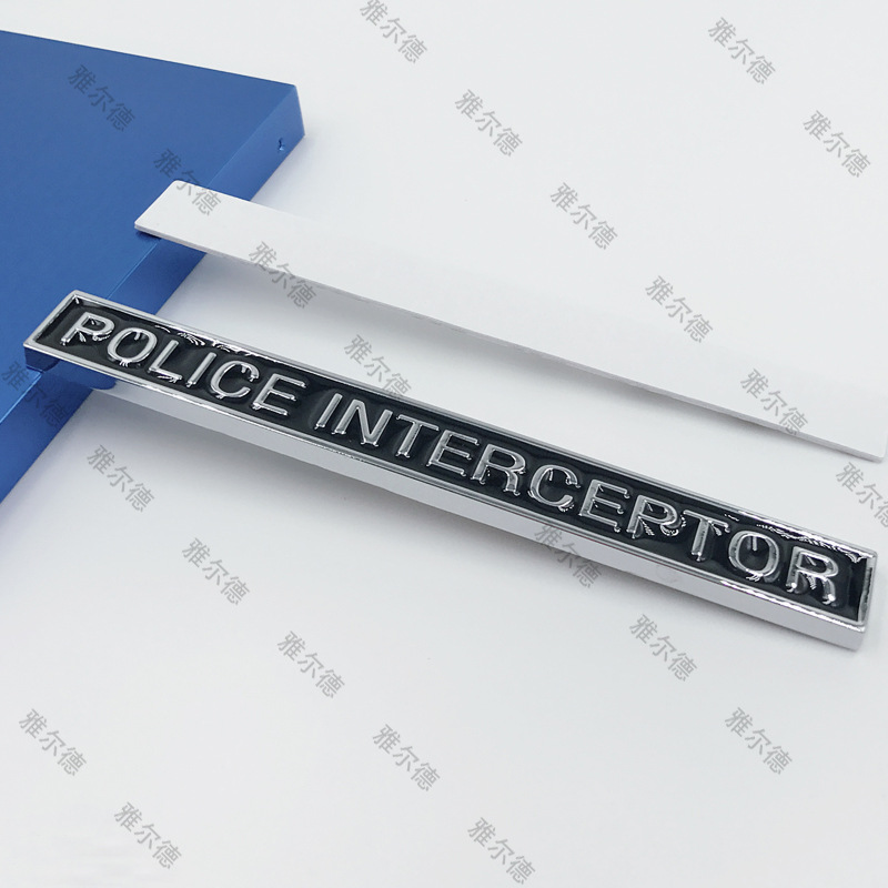 1 pçs metal 3d decalque polícia interceptor emblema adesivos de carro estilo do carro emblema para dodge challerger viagem calibre