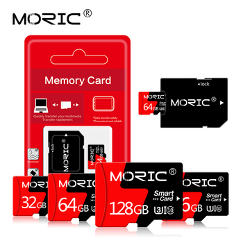 Moric micro sd 256GB 128GB 64GB 32GB 16GB 8GB 4GB TF usb flash memory card microsd class10 Original Product Free adapter cart image