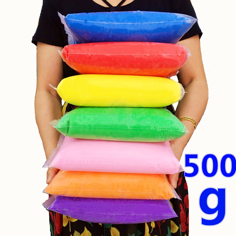 500g/bag Plasticine Toy Polymer Clay Air Drying Soft Modeling Clay Educational Toy DIY Light Slime For Children