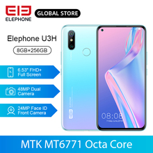 ELEPHONE U3H 8GB 256GB Helio P70 Octa Core Mobile Phone Wireless Charging 6.53