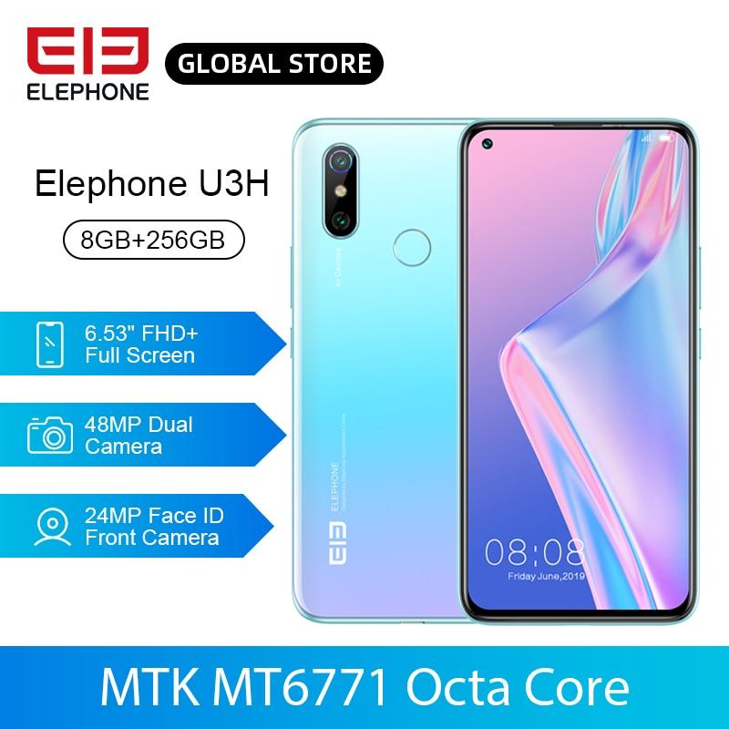 In Stock ELEPHONE U3H 8GB 256GB Helio P70 Octa Core Mobile Phone Wireless Charging 6.53