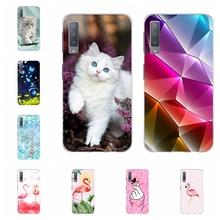 все цены на For Samsung Galaxy A3 A7 2018 Case TPU For Samsung Galaxy J1 2016 Cover Cat Patterned For Samsung Galaxy J2 Core J2 Prime Bumper онлайн