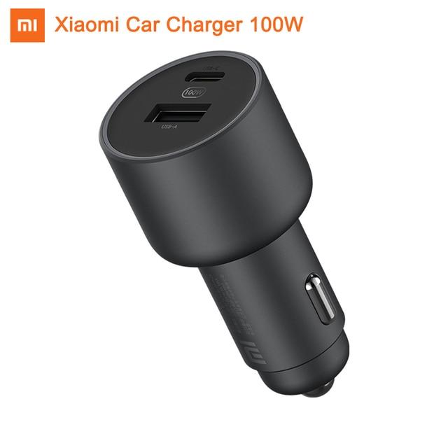 Xiaomi chargeur de voiture 100W 1A1C 5V 3A double USB chargeur rapide QC adaptateur pour iPhone Samsung Huawei Xiaomi téléphones universels