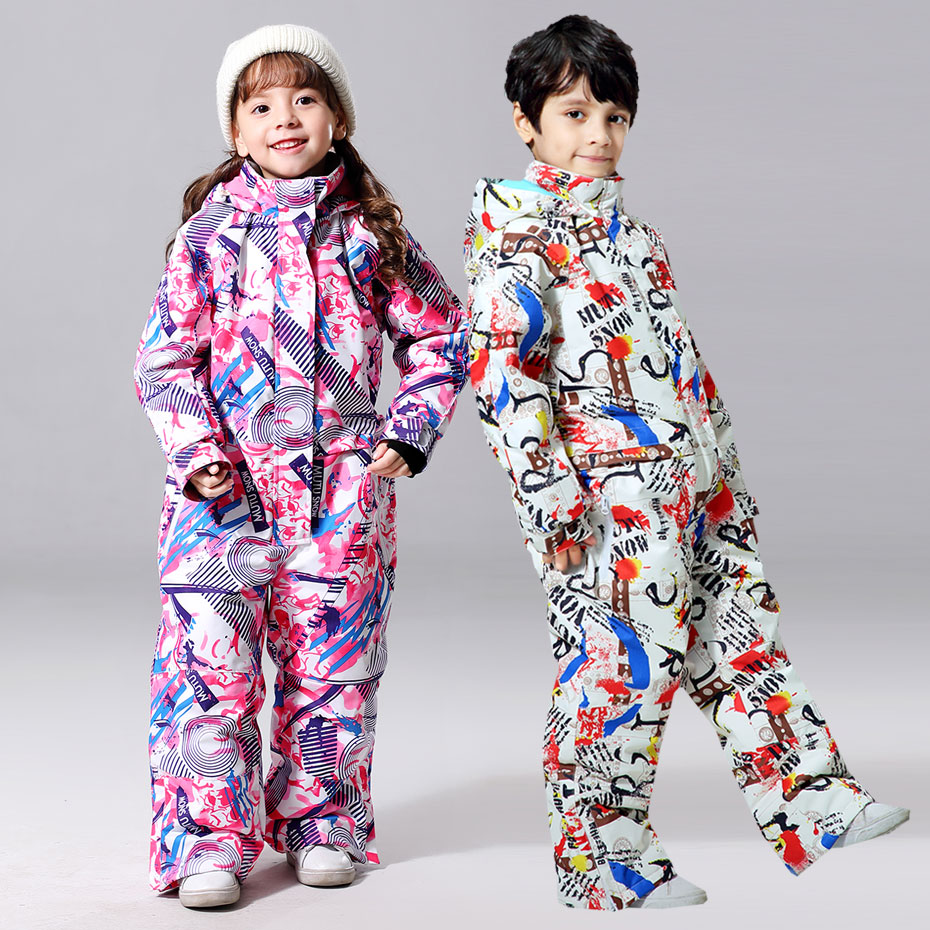 2019 New Ski Suit For Boys And Girls Winter Children Windproof Waterproof Super Warm Snow Skiing And Snowboarding Clothes