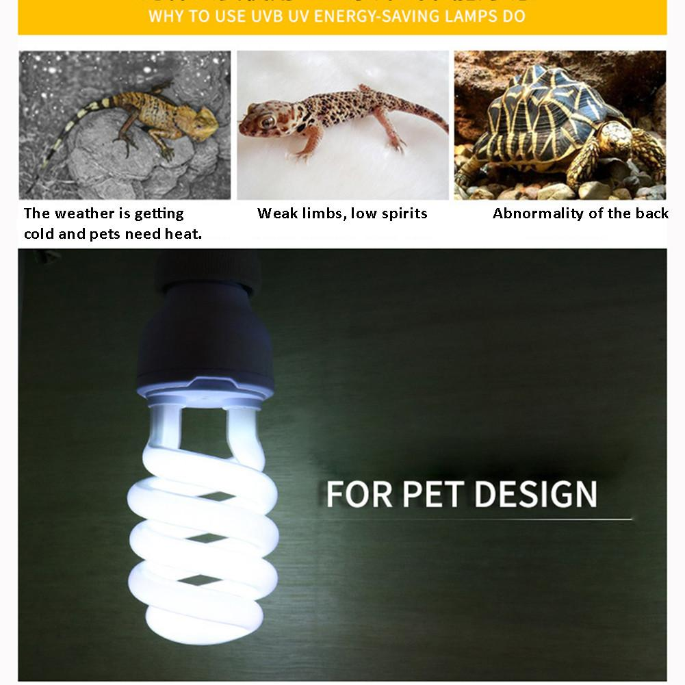 Ultraviolet Light <font><b>Bulb</b></font> <font><b>E27</b></font> 5.0 10.0 UVB 26W Pet Reptile Light Glow Lamp Daylight <font><b>Bulb</b></font> For Tortoise Fish Amphibians 220-240V image