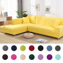 Einfarbig ecke sofa abdeckungen 1/2/3/4 digit für wohnzimmer elastische spandex hussen couch abdeckung stretch sofa handtuch L недорого