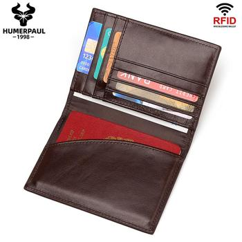 Genuine Leather Passport Cover ID Business Card Holder Travel Slim Credit Wallet For Men Purse Case Driving License Bag Thin Hot